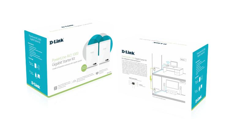DHP-601AV/E PowerLine AV2 600 Gigabit Starter Kit (GBLAN, HomePlug AV, 2-pack)
