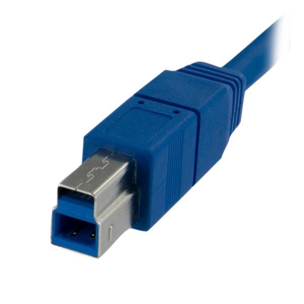 SuperSpeed USB 3.0 kabel A-B M/M (1 meter, blauw)
