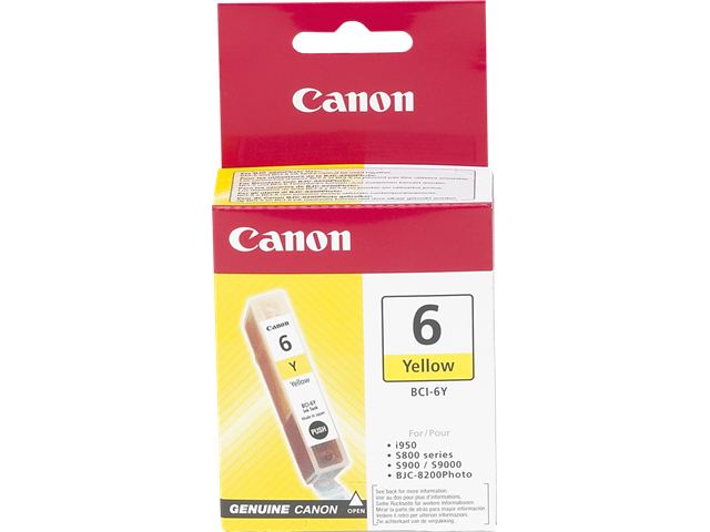 BCI-6Y Gele inkjet-cartridge (280 afdrukken)
