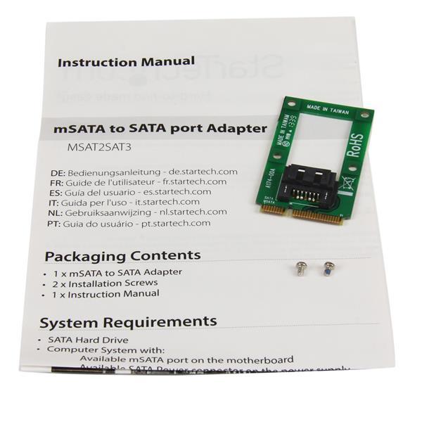 mSATA naar SATA 7 pin adapter