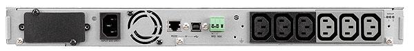 5P1550iR UPS (rack-mountable, AC 160 - 290 Volt, 1100 Watt, 1550 VA, RS-232, USB, 6 output connectors, 1U)