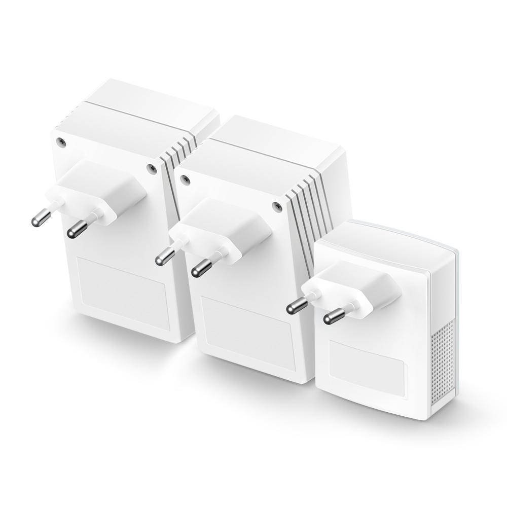 TL-WPA4220T KIT AV500 Powerline Universal WiFi Range Extender (2 Ethernet poorten, Bridge, HomePlug AV, WLAN 802.11b/g/n, wall-pluggable)