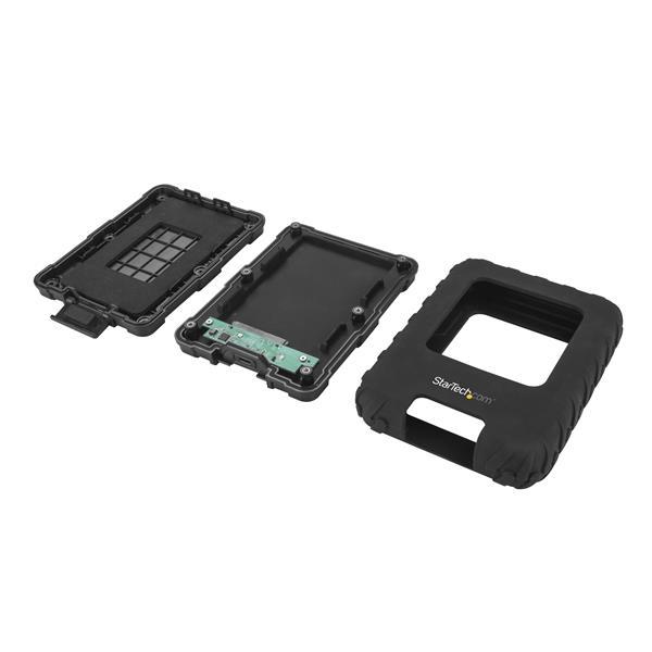 "S251BRU31C3 USB 3.1 External Hard Drive Enclosure (voor 2,5"" SATA SSD en HDD, rugged, USB-C, USB-A, 10 Gbps)"