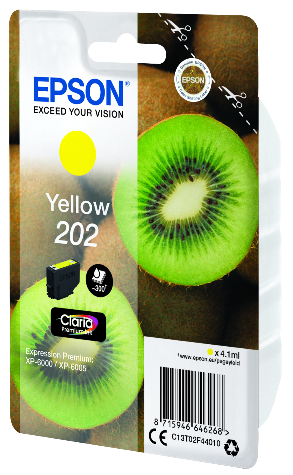 T02F4 inkjetcartridge 202 geel (4,1 ml)
