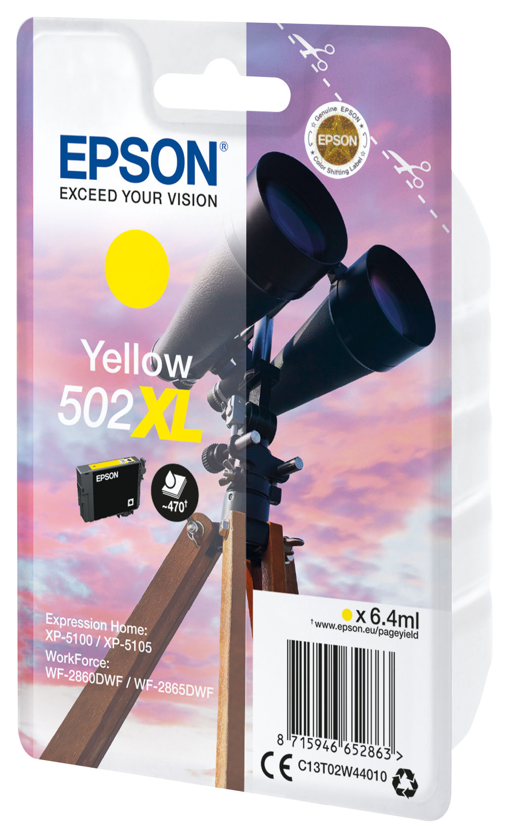 T02W4 inkjetcartridge 502XL geel (6,4 ml)