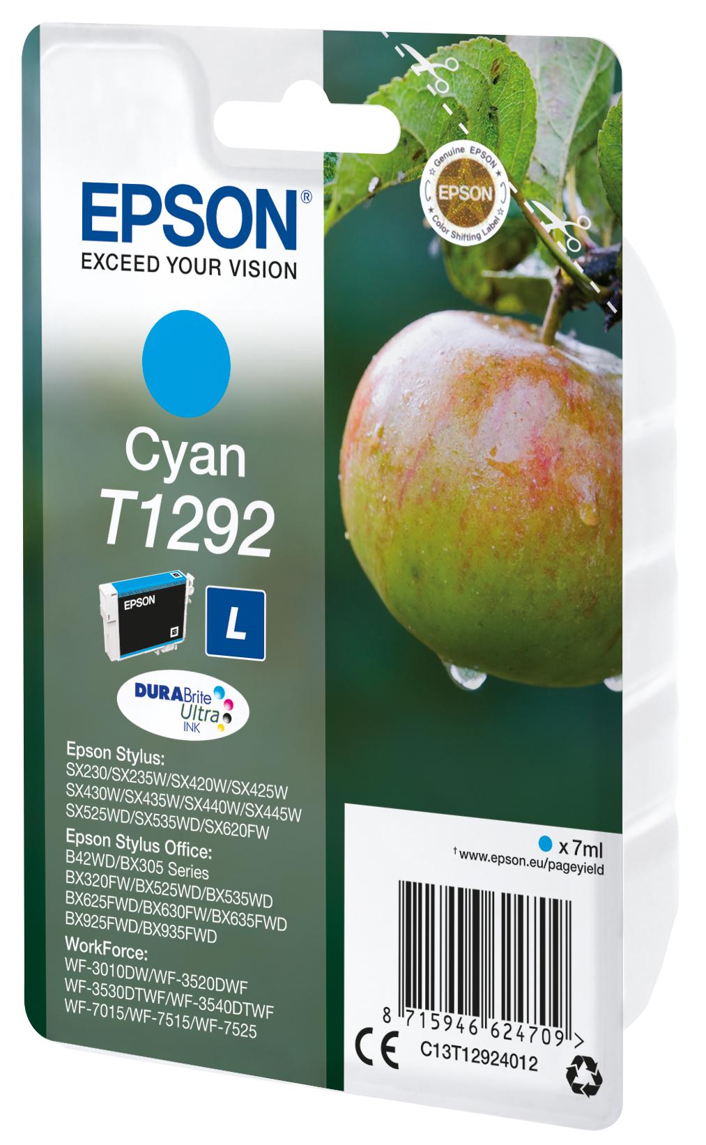 T1292 inkjetcartridge cyaan (445 afdrukken)