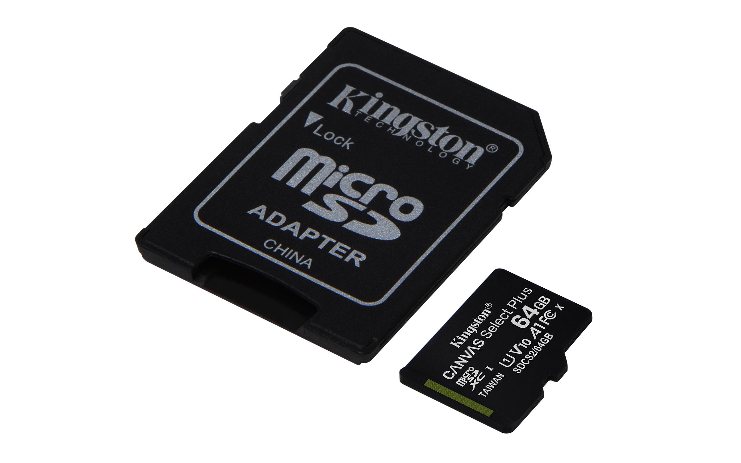 SDCS2/64GB-3P1A microSD 64 GB (100 MB/s, 3-pack)