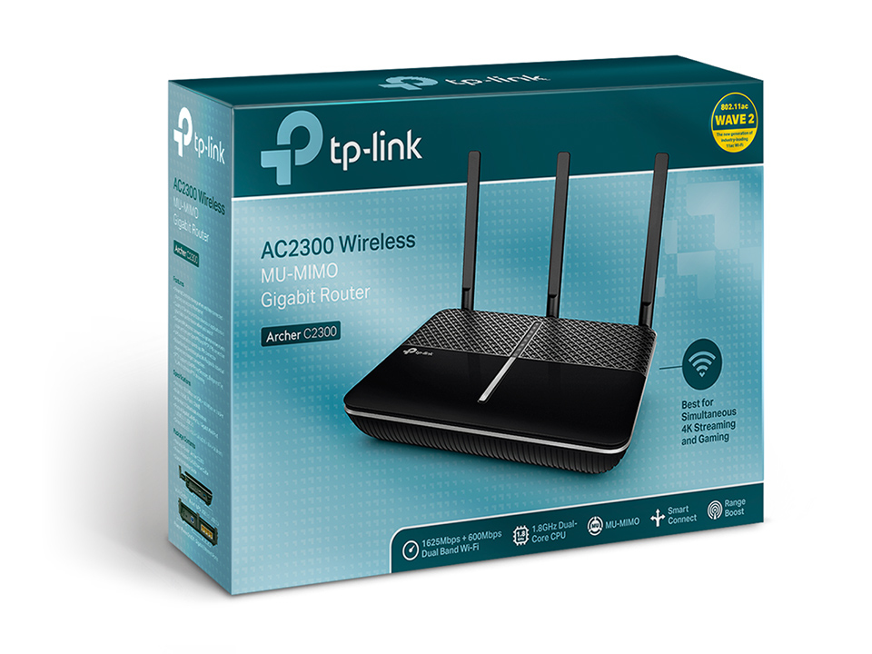Archer C2300 Wireless router (4-poort switch, GBLAN, 802.11a/b/g/n/ac, dual band)