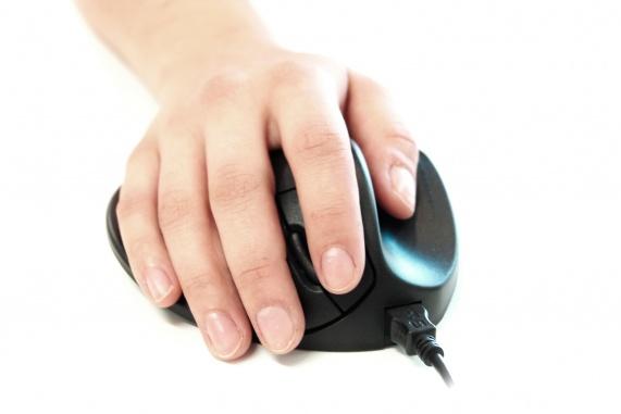 Hippus Mouse Medium Right (USB, zwart)