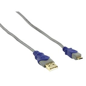 USB 2.0 kabel : A M naar micro B M (1,8 meter)