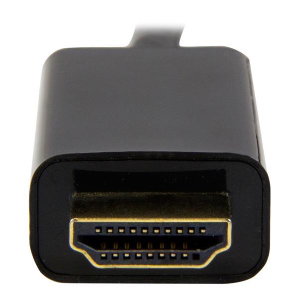 Mini DisplayPort M naar HDMI M converterkabel (1 meter, zwart, 4K)