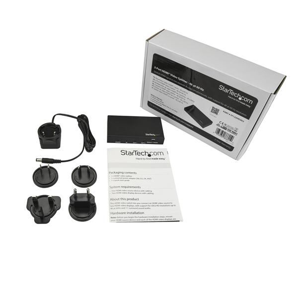 ST122HD202 2-Poort HDMI Splitter (4K, 60 Hz, 1 in, 2 uit)