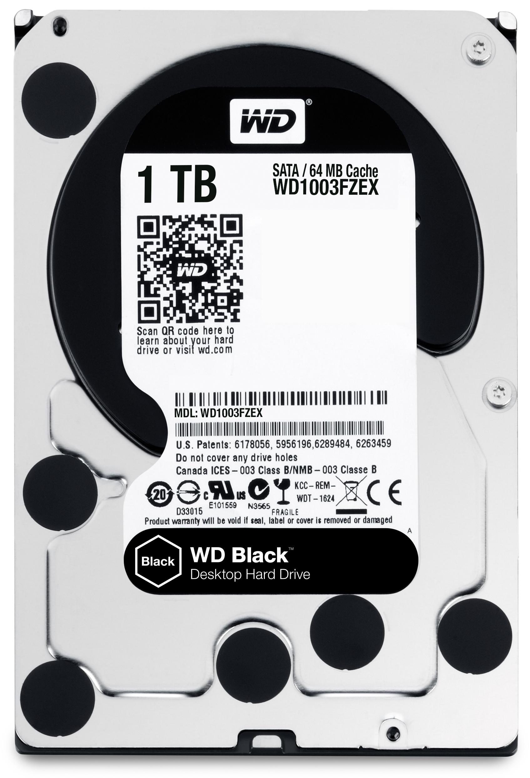 1000 GB WD1003FZEX Black (64 MB cache, SATA 6 GB/s, 7200 rpm)