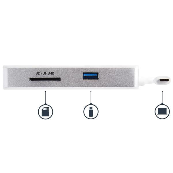 DKT3CHSD4GPD USB-C Multiport Adapter (SD card reader, 4K HDMI, GBLAN, 1 x USB 3.0, docking station)