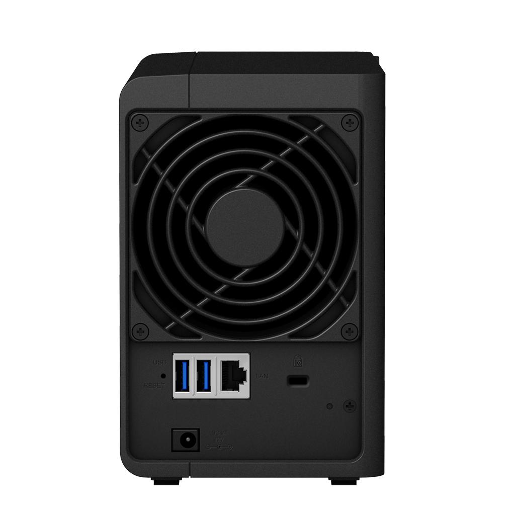 "DiskStation DS218 (2 bays, Quad-core 1,40 GHz, 2 GB RAM DDR4, SATA, RAID Supported 0, 1, Basic, Hybrid RAID, JBOD, 2 x 2,5""/3,5"" Bay, Gigabit Ethernet, 3 USB-poorten, LAN)"