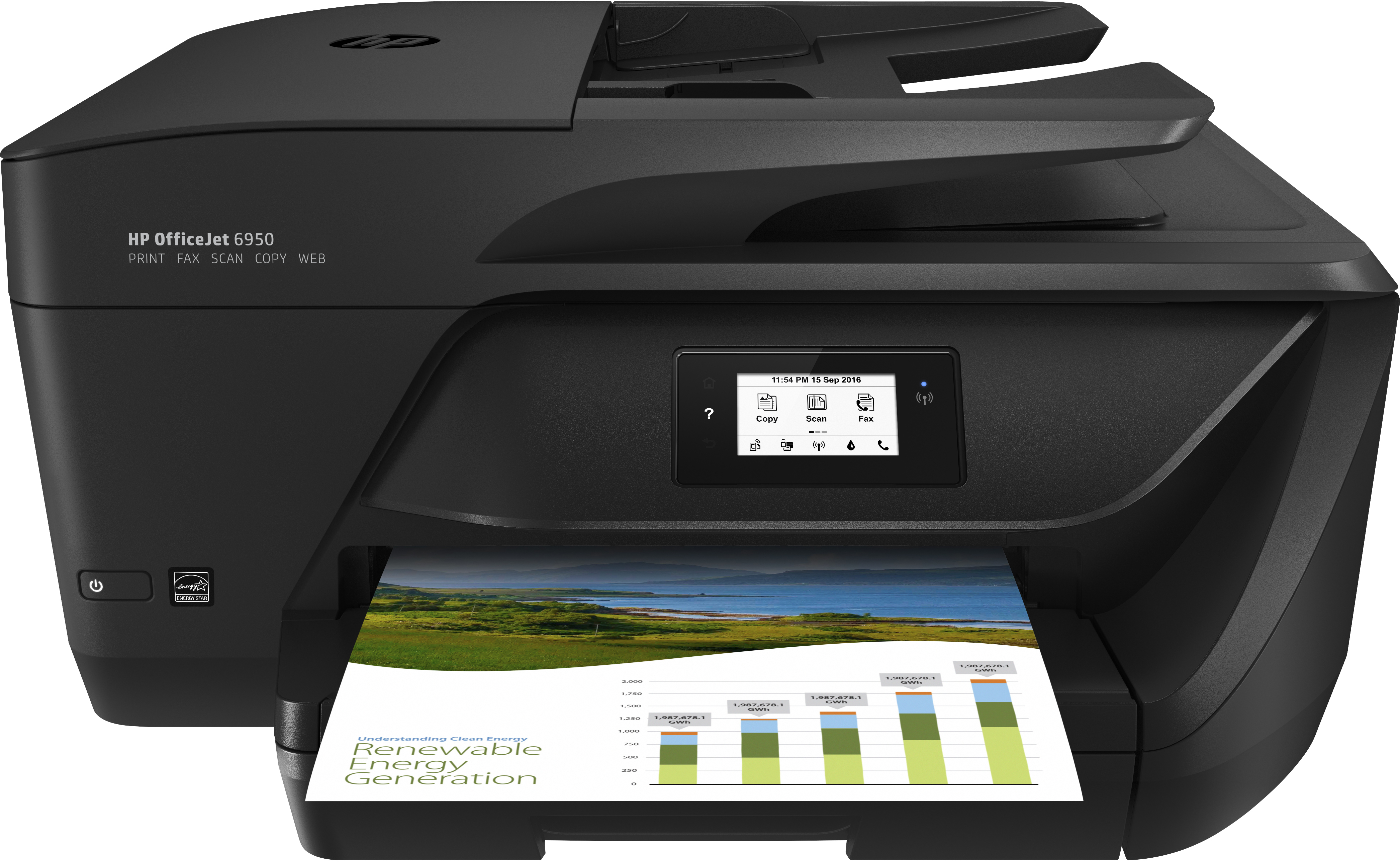 Officejet 6950 All-in-One Multifunction printer (A4, 28 ppm, duplex, USB 2.0, Wi-Fi)