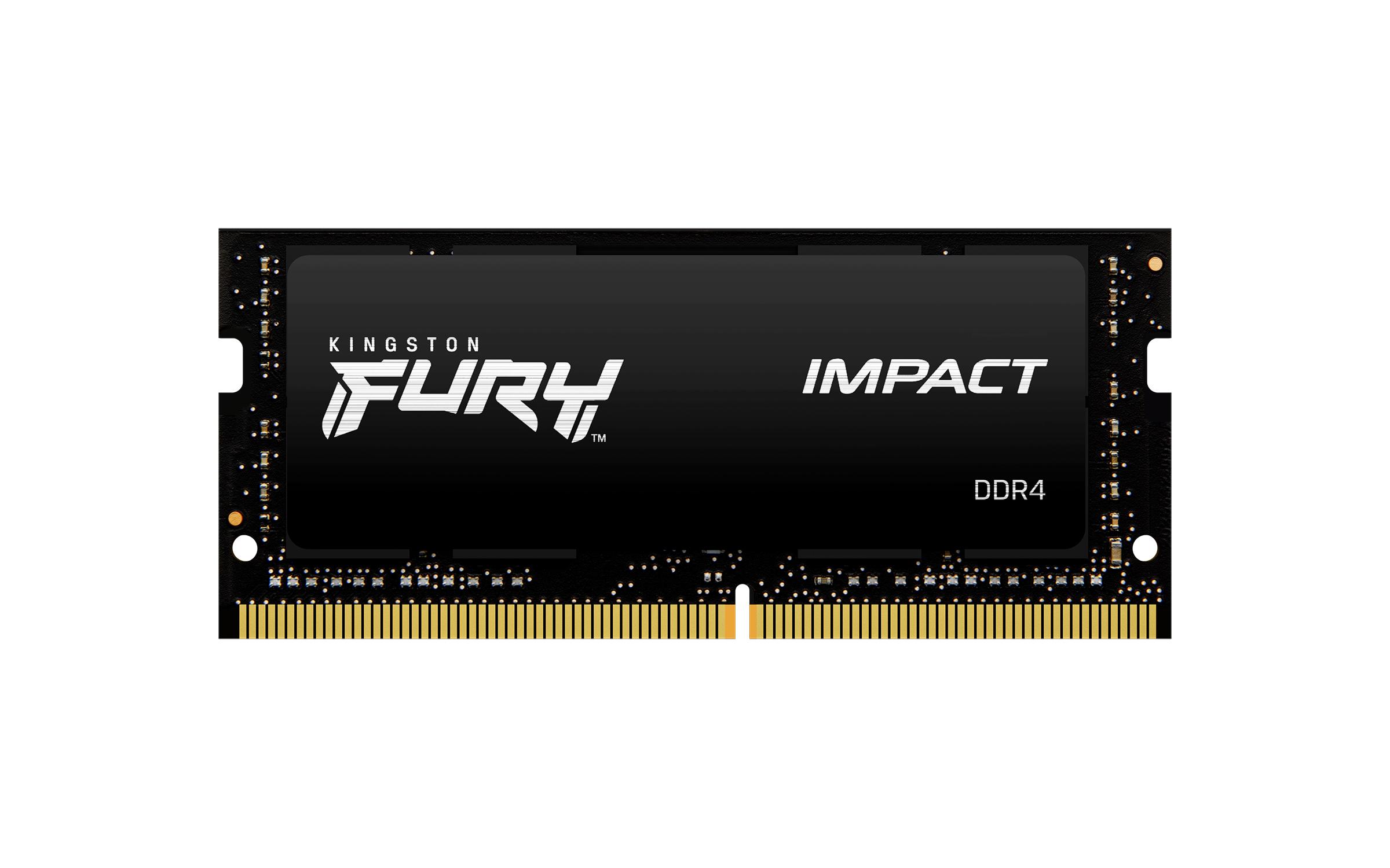 KF426S15IB/8 Fury Impact DDR4 8 GB, SO-DIMM 260-pin, 2666 MHz, PC4-21300, CL15, zwart