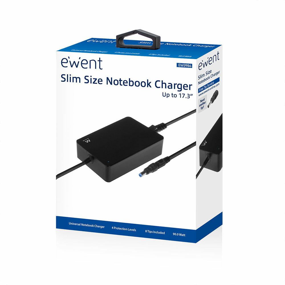 EW3986 Slim Notebook Charger (90 Watt, active PFC)