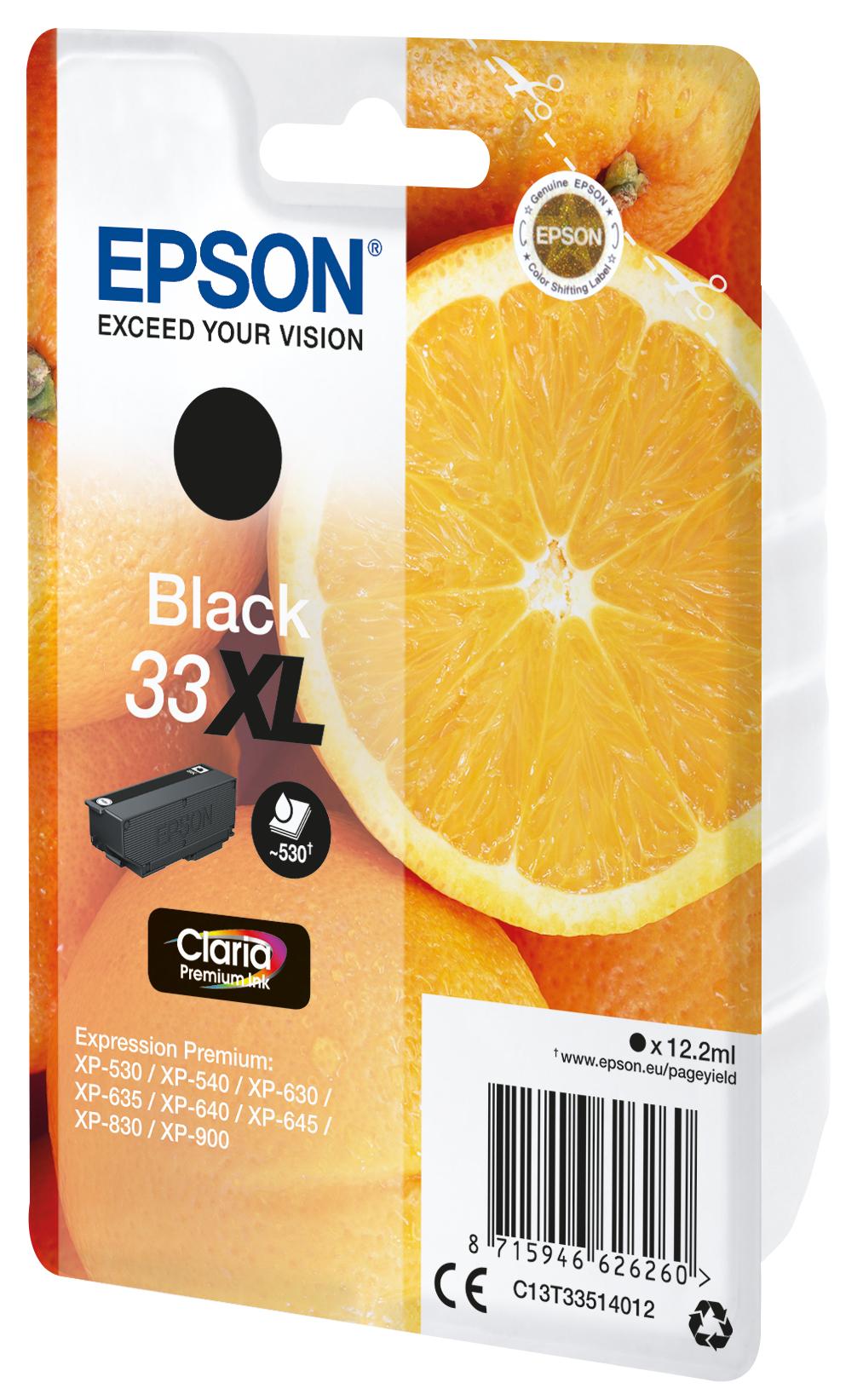 T3351 inkjetcartridge Claria 33 zwart XL (530 afdrukken)