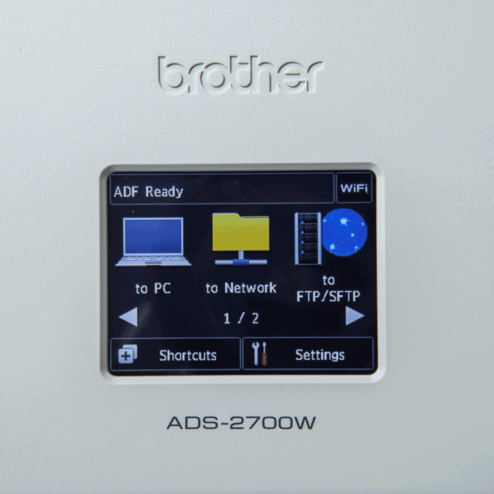 ADS-2700W Document scanner (duplex, A4, 600 dpi x 600 dpi, 35 ppm, ADF, USB 2.0, LAN, Wi-Fi)
