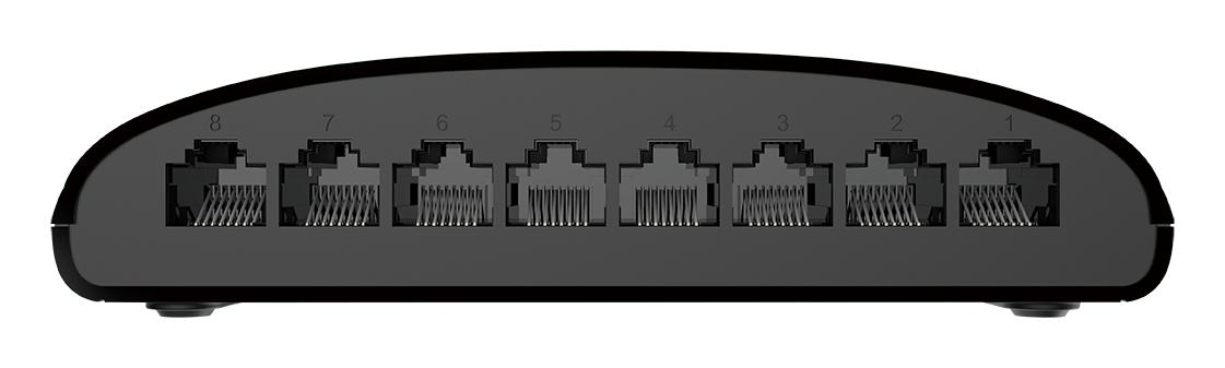DGS-1008D/E Switch (unmanaged, 8 poorten, 10/100/1000 Mbps, desktop)