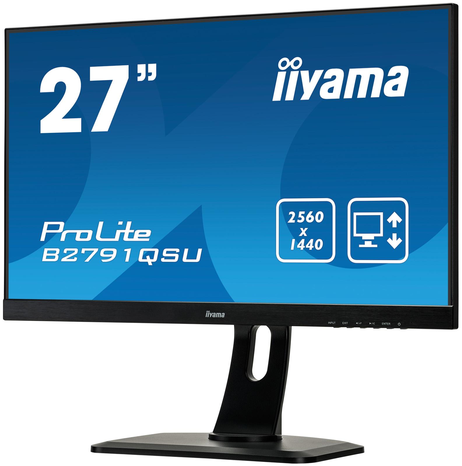 """ProLite B2791QSU-B1 LED 27"""", 2560 x 1440, Quad HD, 1000:1, 1 ms, HDMI, DVI, DisplayPort, speakers, zwart"""