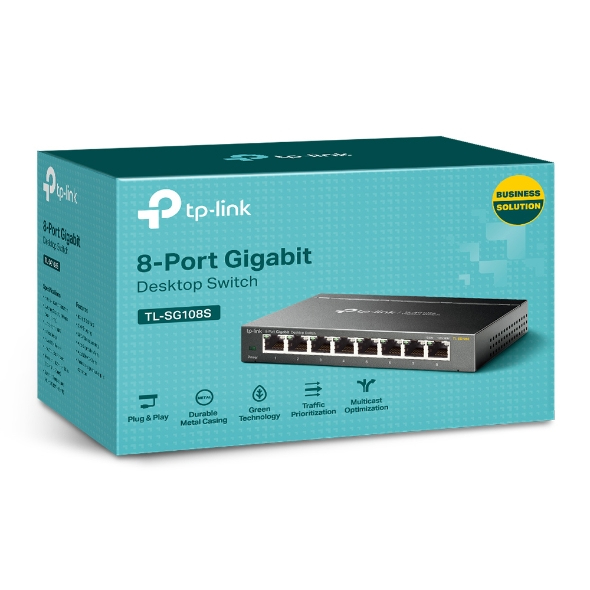 TL-SG108S Switch (8 x 10/100/1000 Mbps)