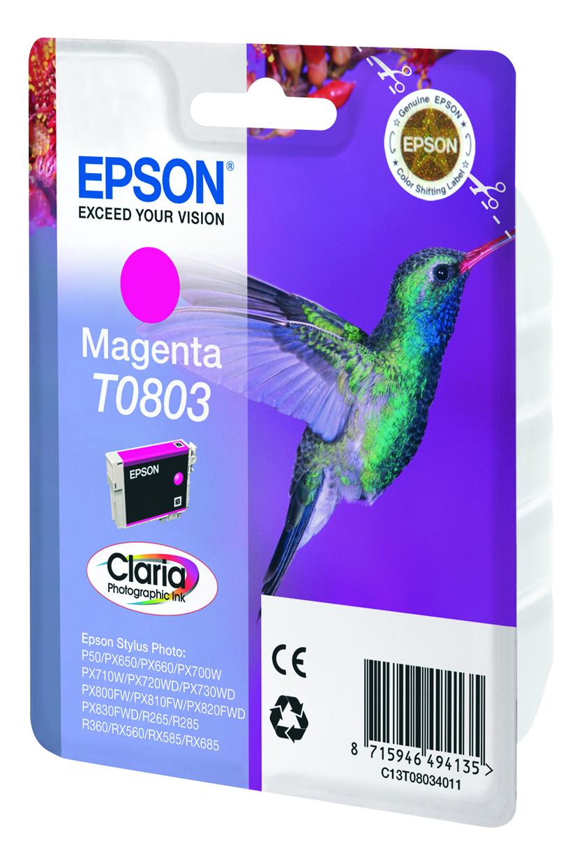 T0803 inkjetcartridge foto magenta