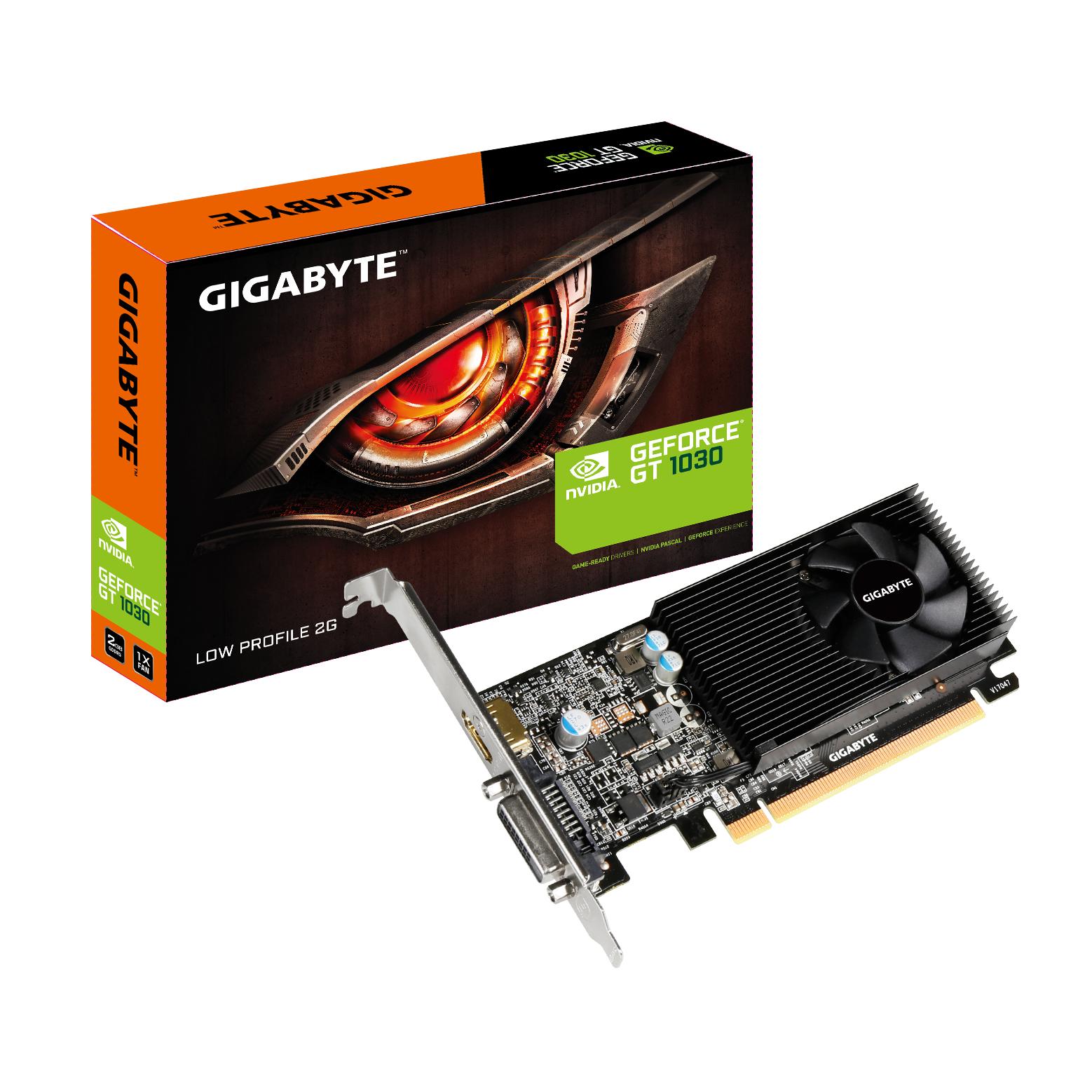 GV-N1030D5-2GL Geforce GT 1030 (2 GB GDDR5, PCIe 3.0 low profile, DVI, HDMI)