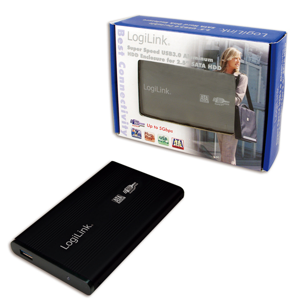 """UA0106 USB 3.0 HDD Enclosure voor 2,5"""" SATA HDD (zwart)"""