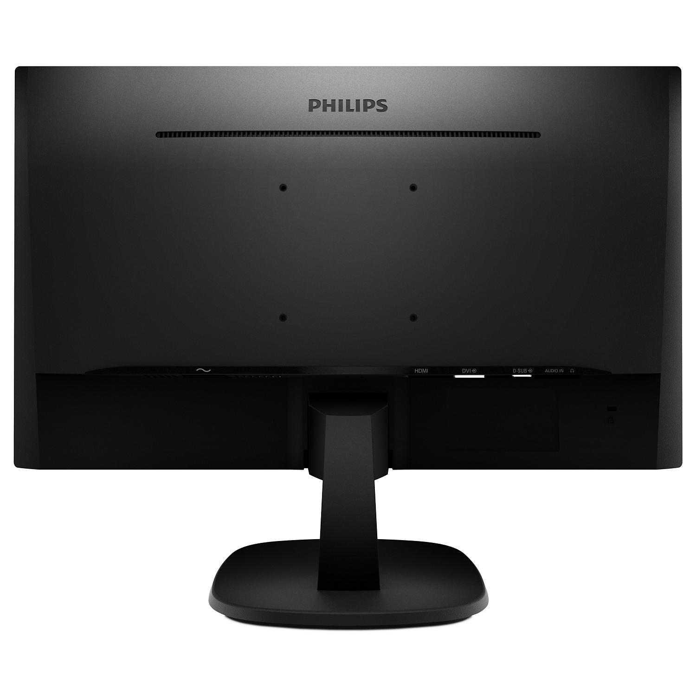 """V-line 243V7QDAB LED 24"""", 1920 x 1080 Full HD, IPS, 1.000:1, 5 ms, HDMI, DVI-D, VGA, speakers, zwart"""