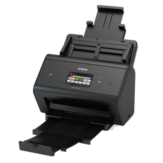 ADS-2800W scanner (A4, 256 MB, 600 dpi, 30 ppm, LAN, WLAN, USB 2.0)