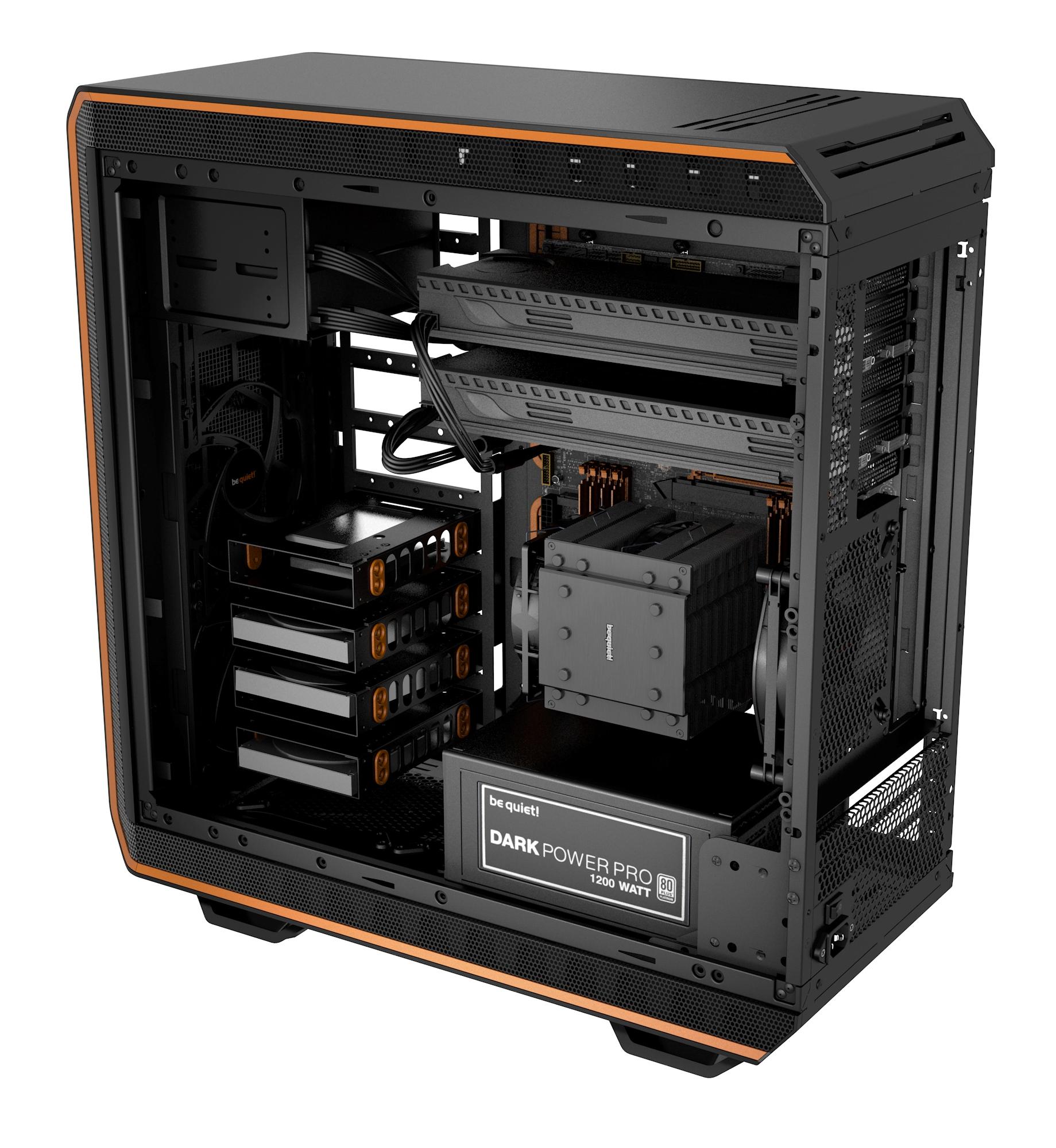 Dark Base 900 case (High End, zwart/oranje)