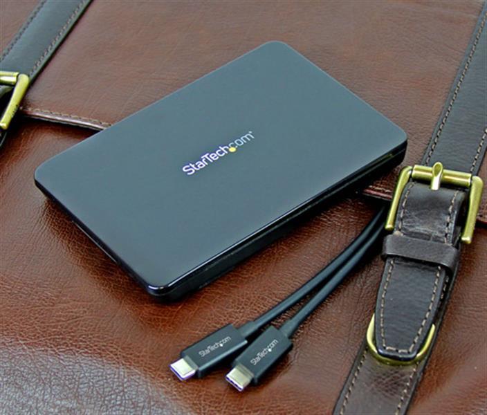 """USB 3.1 Tool-Free Enclosure voor 2,5"""" SSD/HDD schijven (USB-C)"""