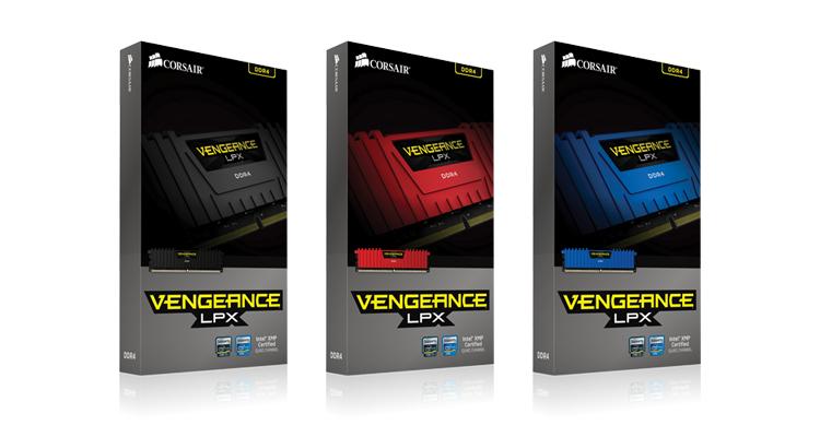 CMK8GX4M2A2666C16 Vengeance DDR4, 2666 MHz, 8 GB, Black Skylake