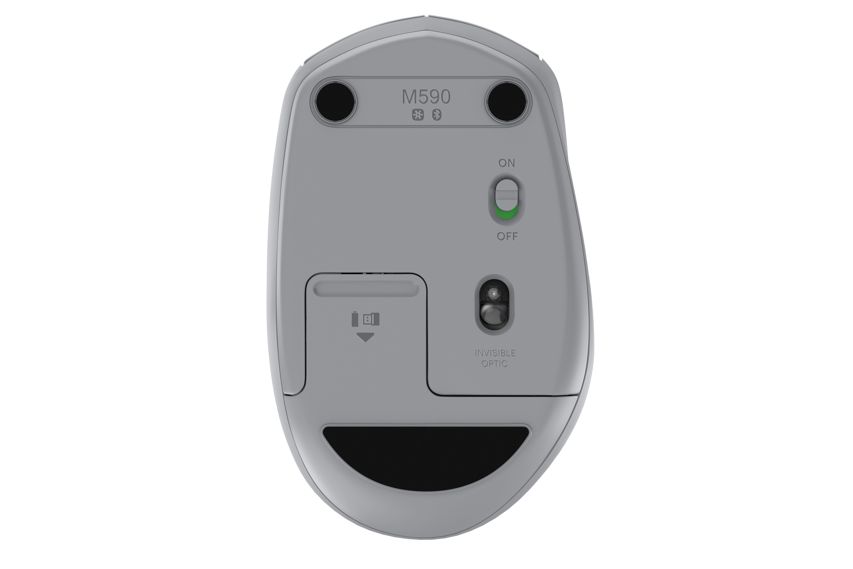 M590 Multi-Device Silent Wireless Mouse (grijs)