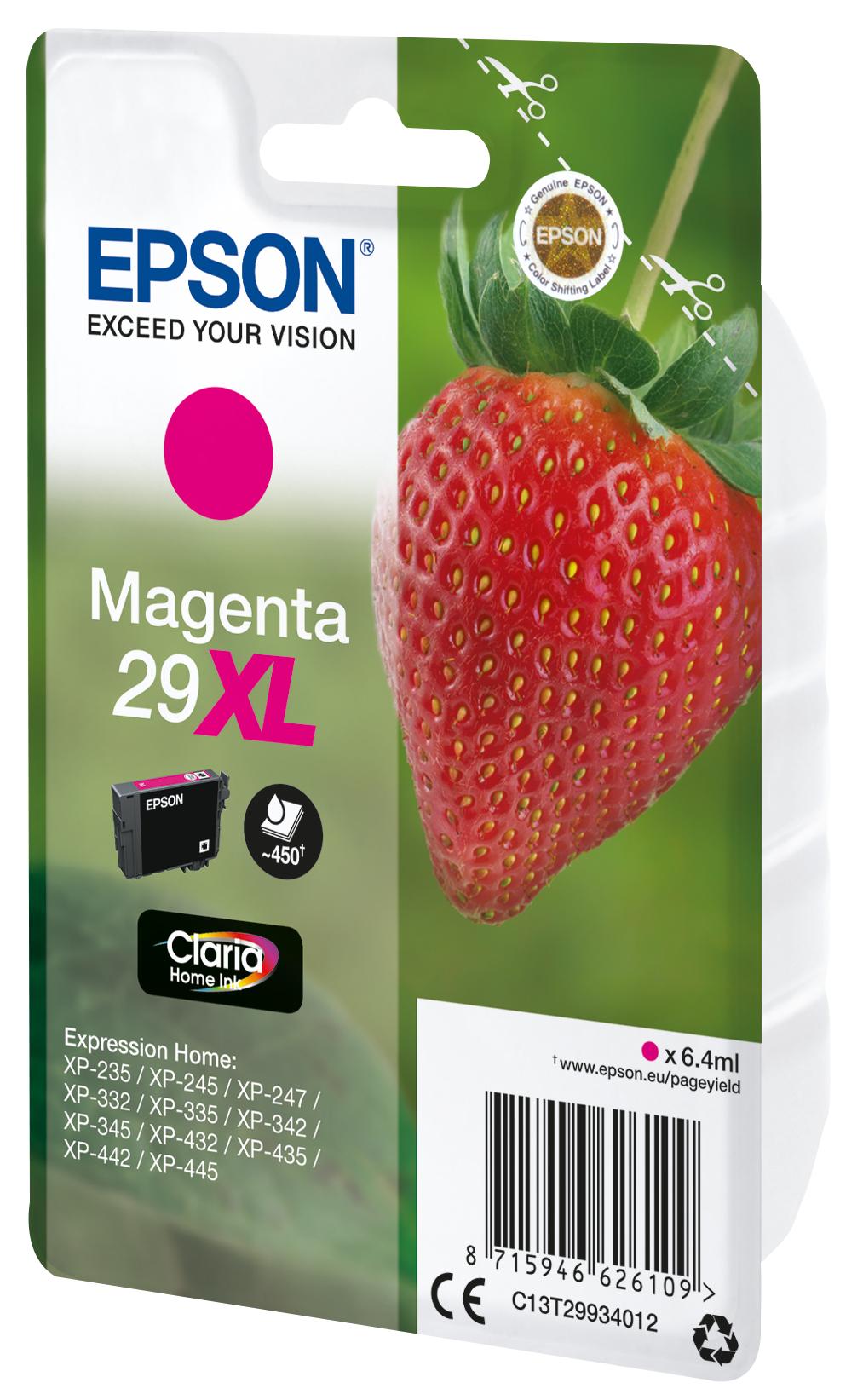 T2993 inkjetcartridge 29XL magenta (450 afdrukken)