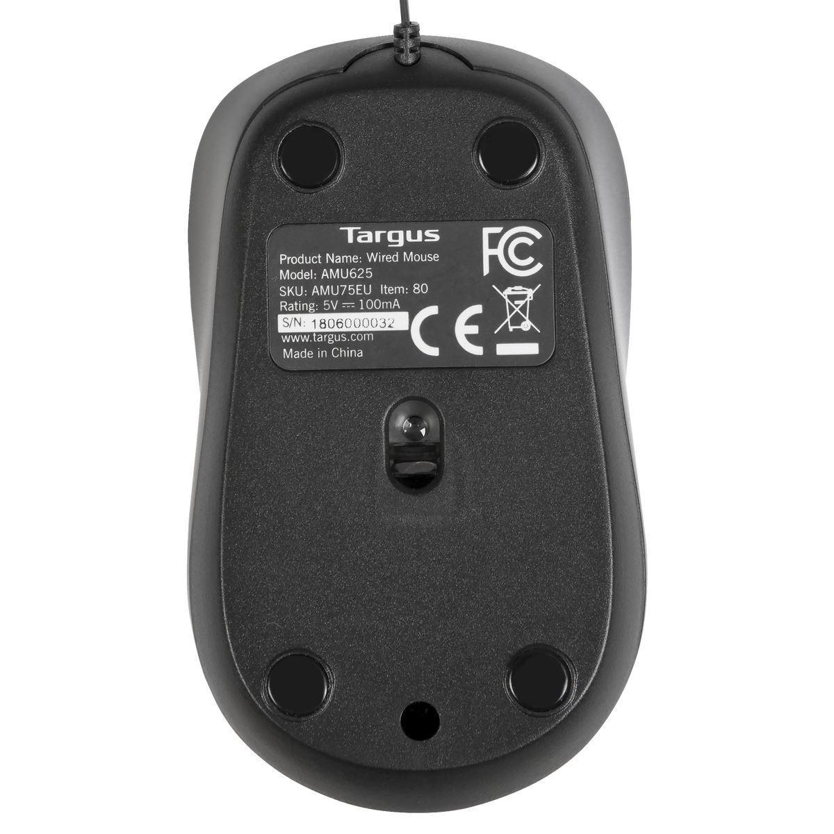 AMU75EU Compact Optical Mouse (zwart/grijs)