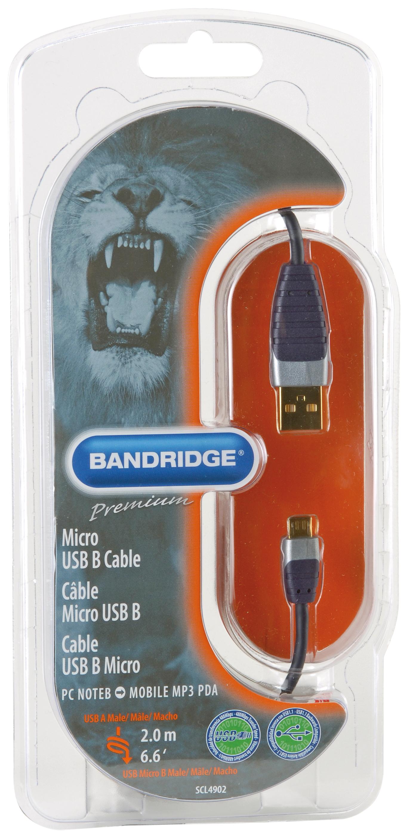 Premium Performance Micro USB-kabel (2 meter)