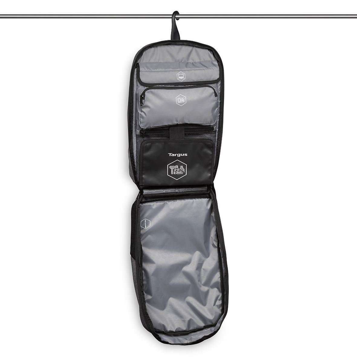 """Work & Play Fitness Notebook carrying backpack (15,6"""", grijs)"""
