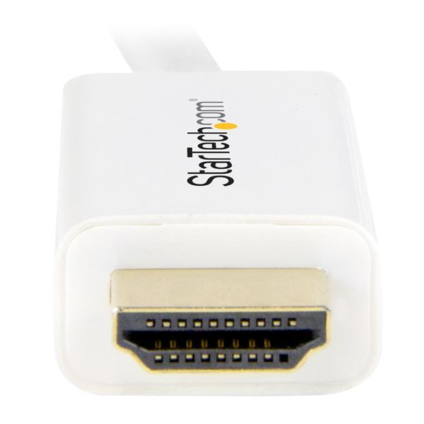 Mini DisplayPort M naar HDMI M converterkabel (1 meter, wit, 4K)