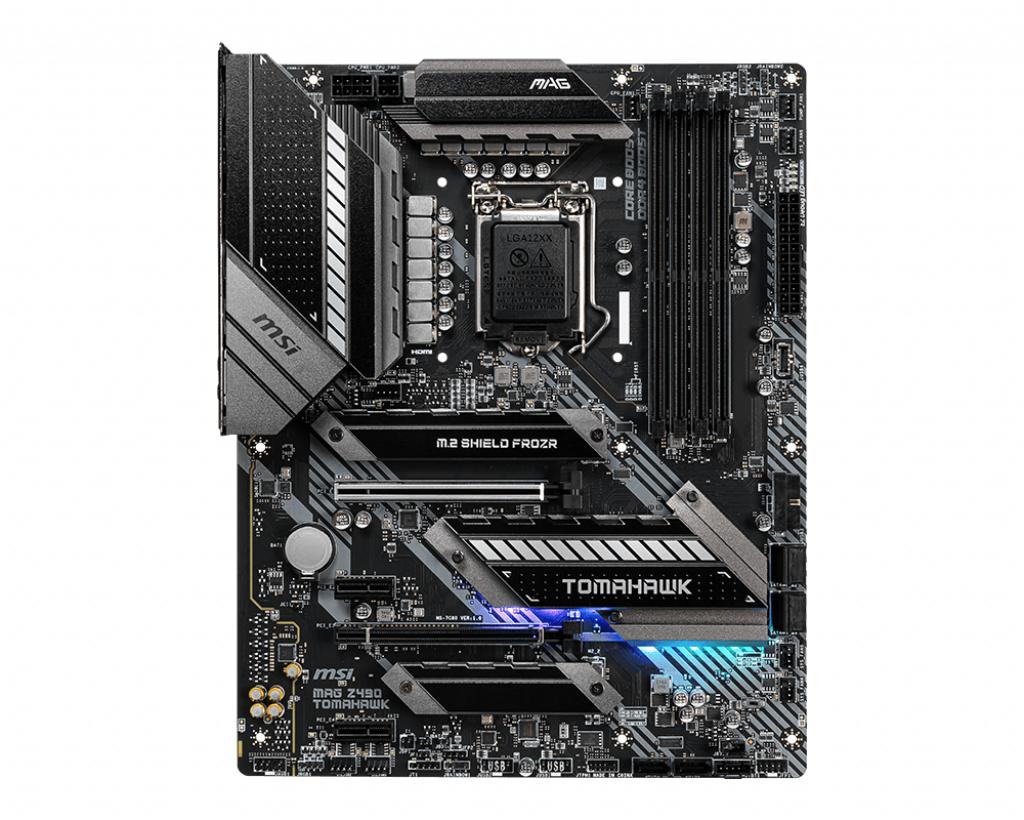 Socket 1200 : MAG Z490 TOMAHAWK (ATX, Intel Z490, USB-C Gen1, USB 3.2 Gen 1, USB 3.2 Gen 2, USB-C Gen 2x2, Gigabit LAN, 2.5 Gigabit LAN, onboard graphics, HD Audio 8-channel)