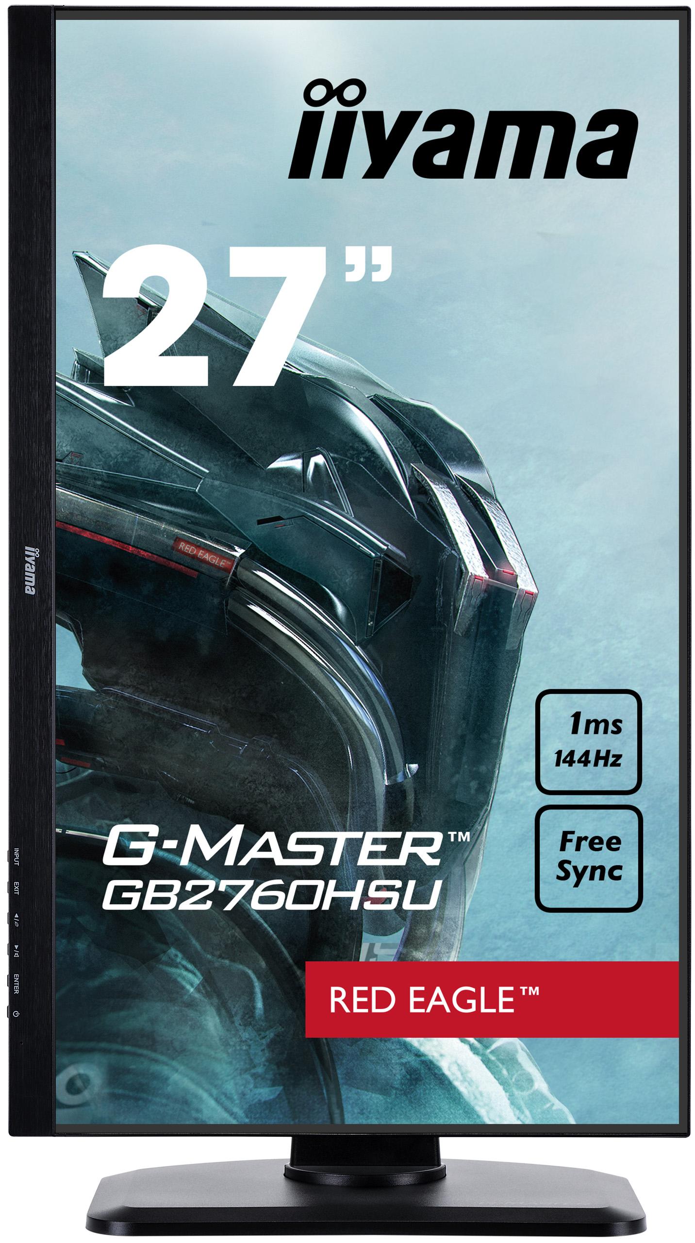 """G-Master Red Eagle GB2760HSU-B1 LED 27"""", 1920 x 1080 Full HD, TN, 1000:1, 1 ms, HDMI, DisplayPort, speakers, mat zwart"""