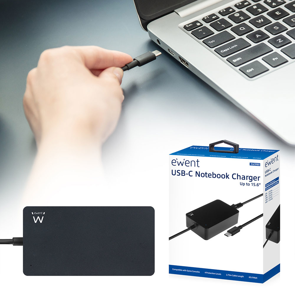 EW3980 USB Type-C Notebook charger (65 Watt)