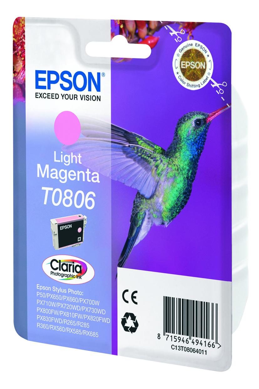 T0806 inkjetcartridge foto licht-magenta