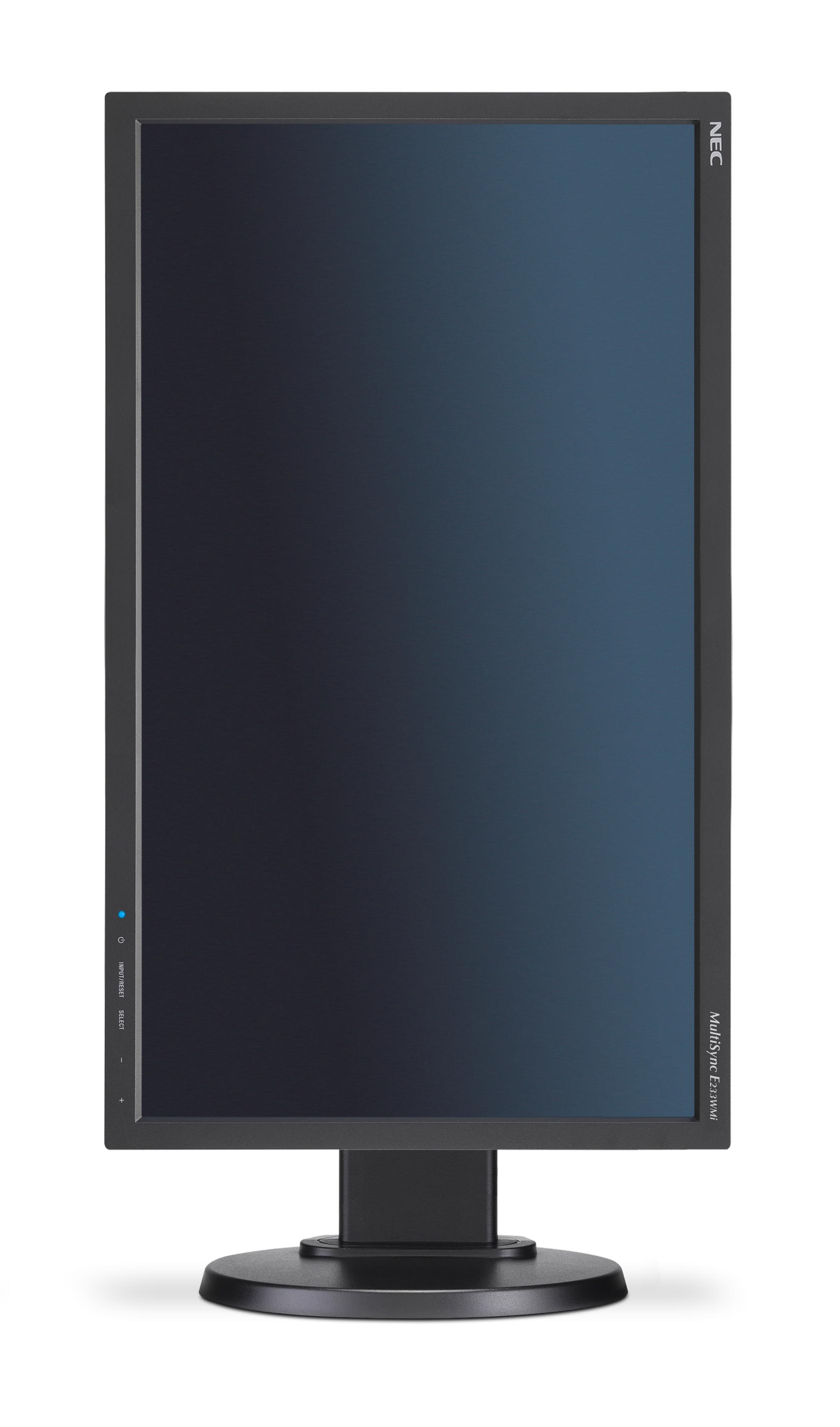 "MultiSync E233WMi LED 23"", 1920 x 1080 Full HD, IPS, 1000:1, 6 ms, DVI-D, VGA, DisplayPort, speakers, zwart"