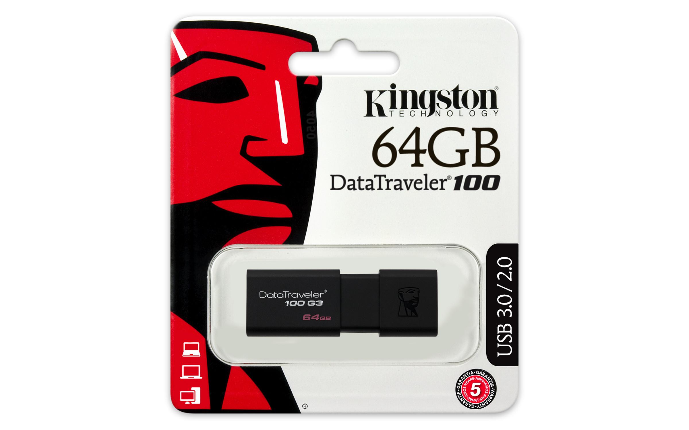 DT100G3/64GB DataTraveler 100 G3 64 GB (USB 3.0)