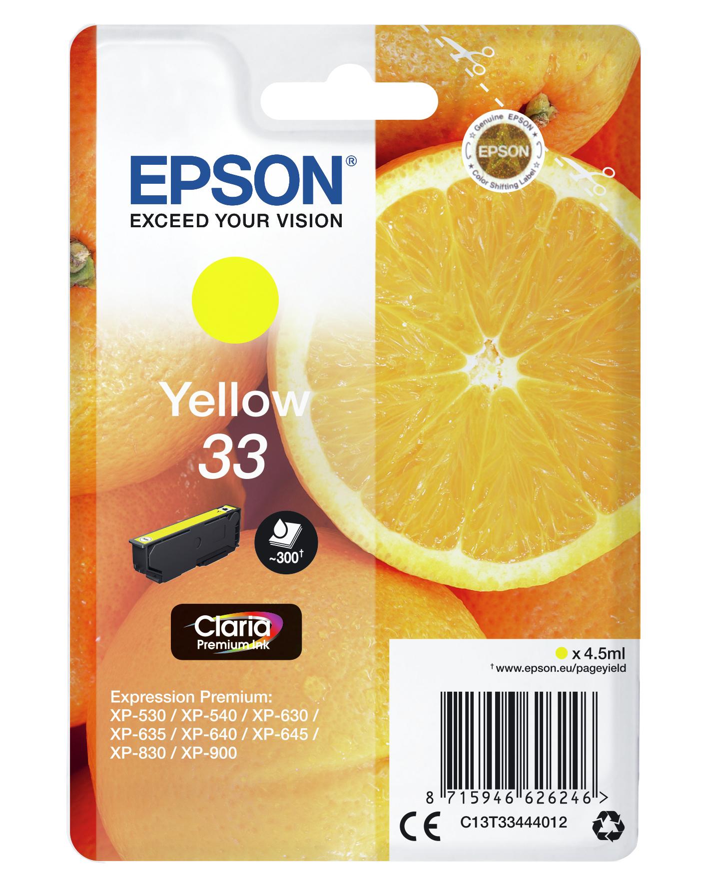 T3344 inkjetcartridge 33 geel