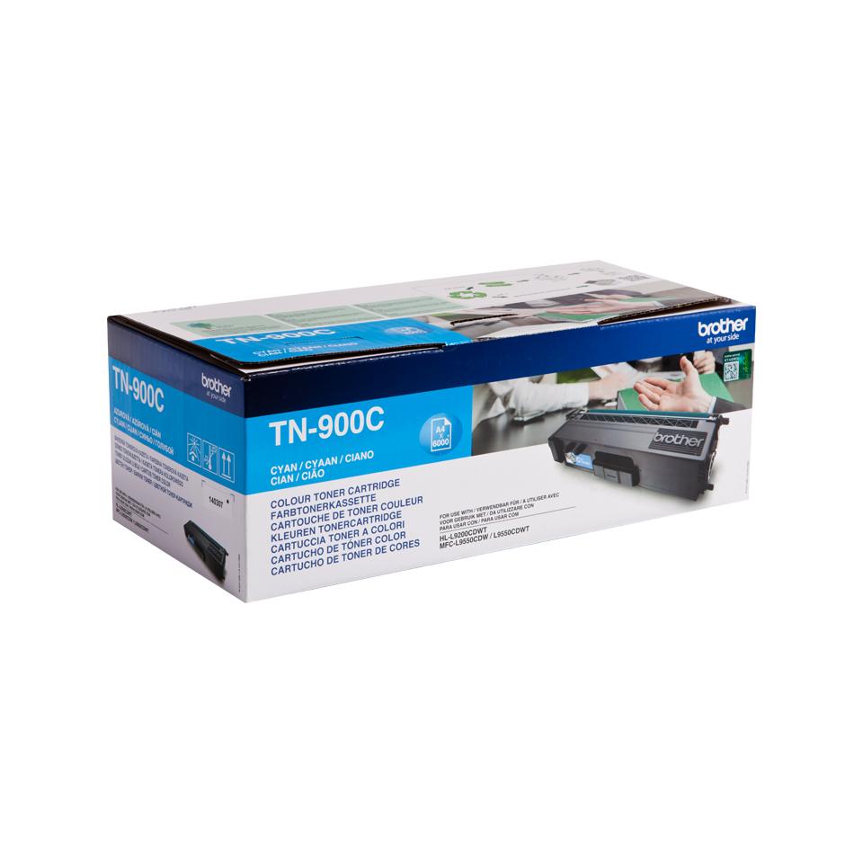TN-900C toner cyaan (6.000 afdrukken)