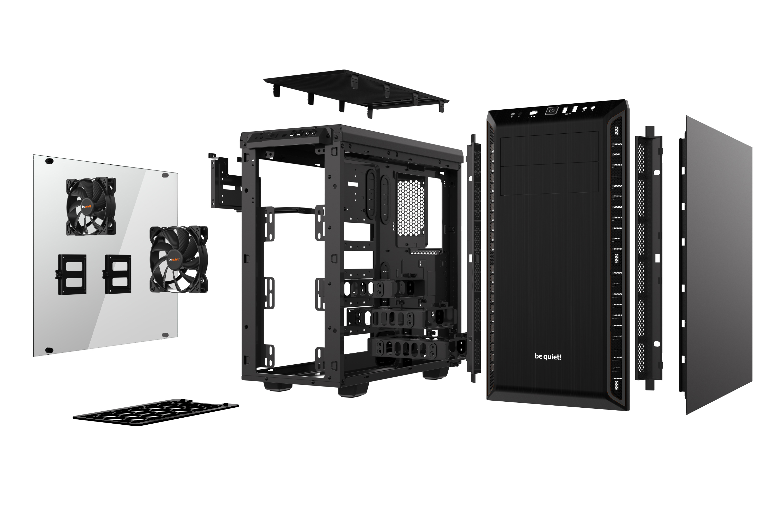Pure Base 600 case (zwart, met venster)